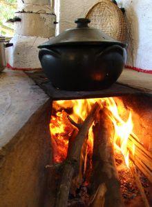 jedlo na ohni