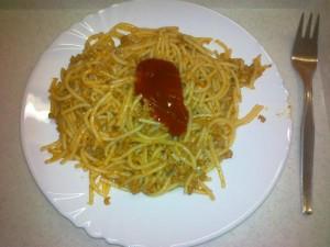 večera špagety