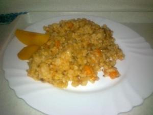 slovenská ryža s hríbami