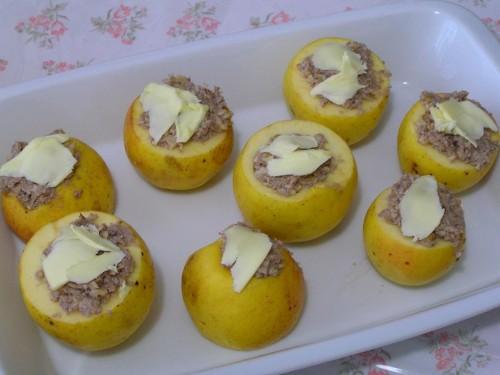 jabĺčka tesne pred pečením